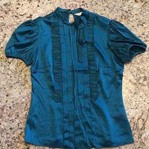 Trina Turk .Green blouse